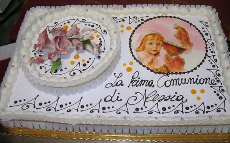 realizzazione torte prima comunione