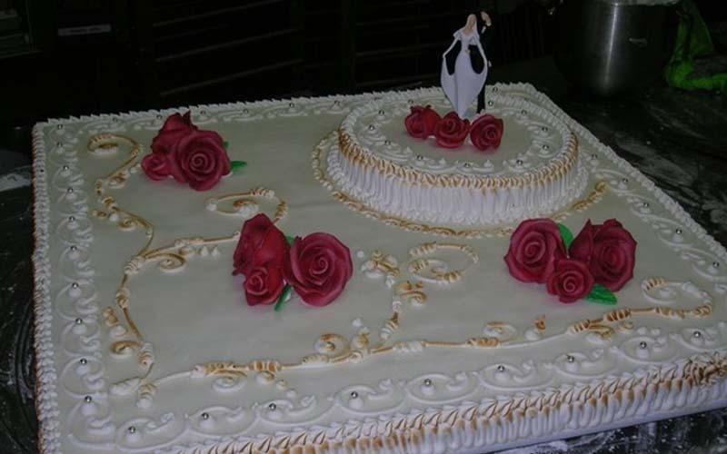 torta matrimoniale quadrata