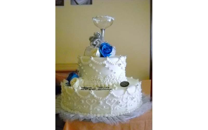 torta matrimonio con calice