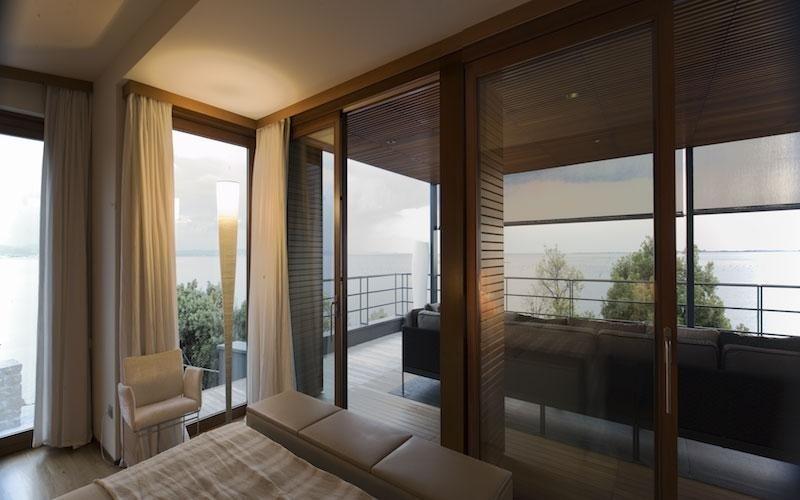 Interior curtains at Villa Duino