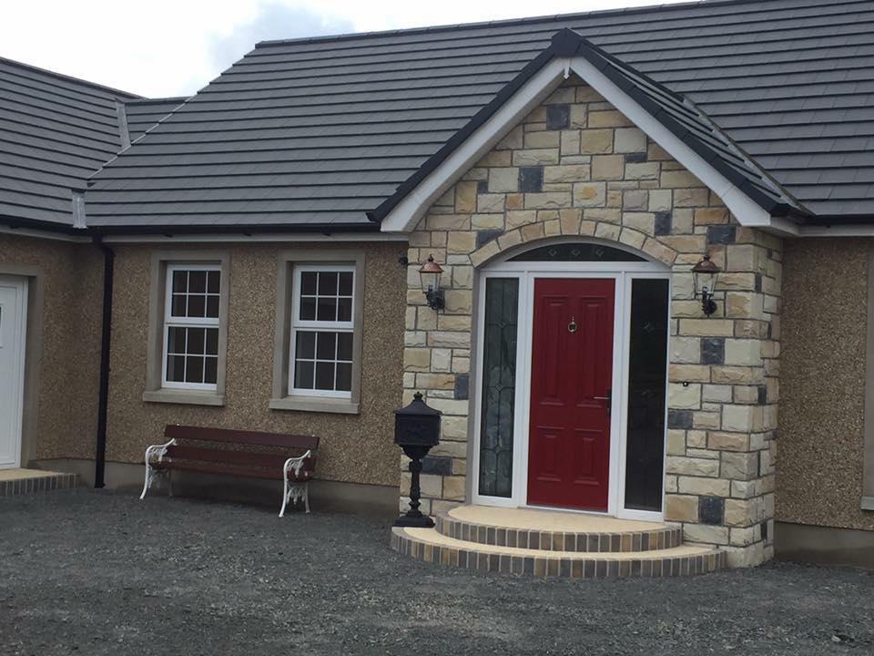 Natural stone cladding house