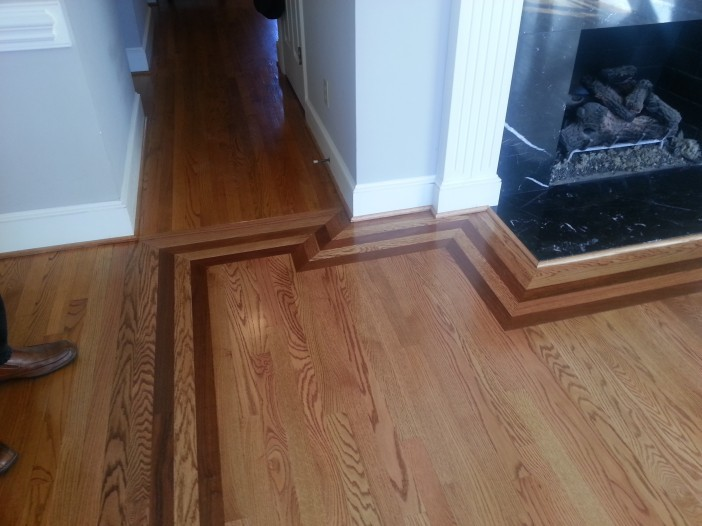 Custom hardwood floor borders belmont matthews nc for Hardwood floors charlotte nc