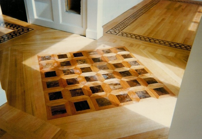 Custom hardwood floor inlays charlotte ballantyne nc for Hardwood floors charlotte nc