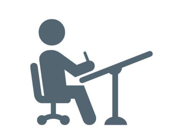 icona uomo alla scrivania