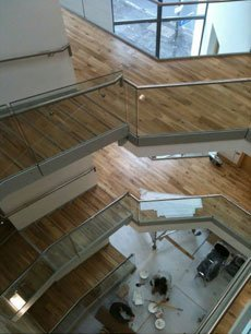 wooden stair flooring