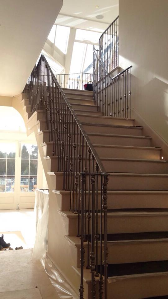 Staircase and handrails