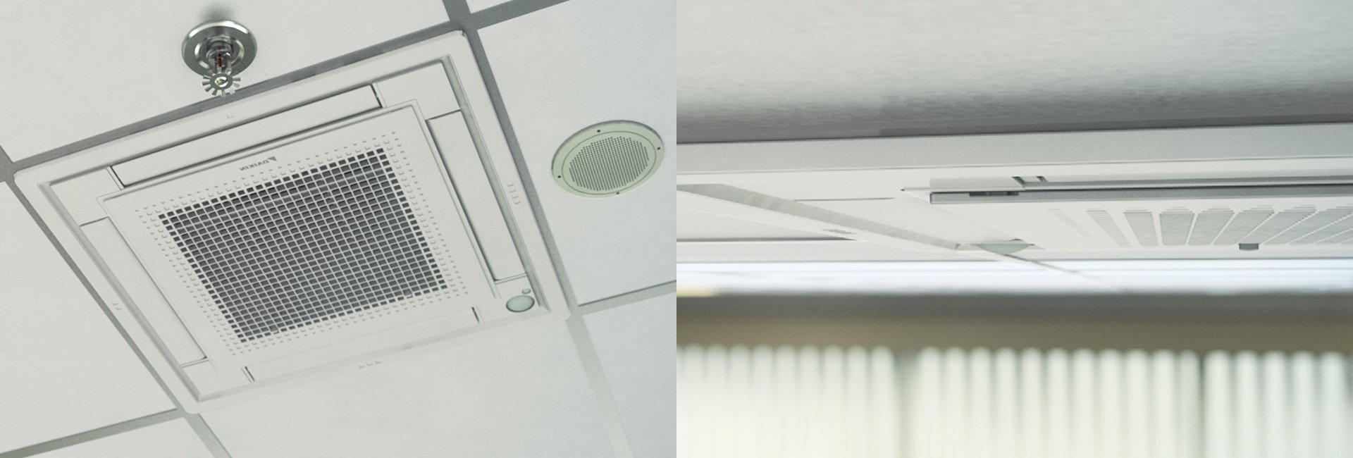 ramsays air conditioning white ducted daikin air contitioner in a ceiling