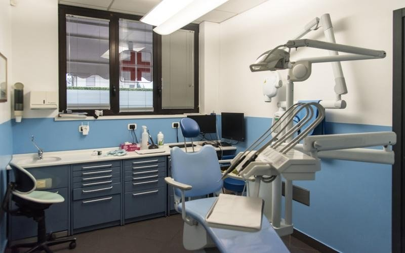 La sala medica del centro