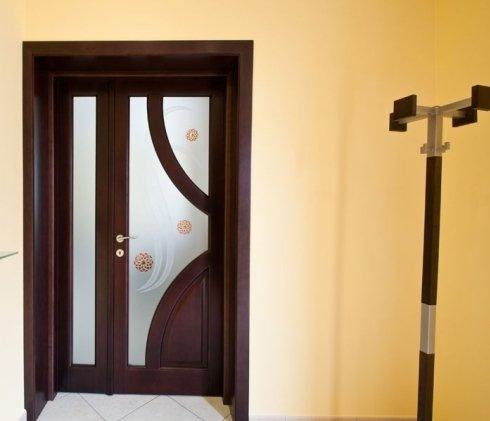 porta interna legno e vetro