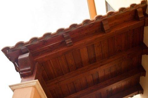 tettoia copertura in legno