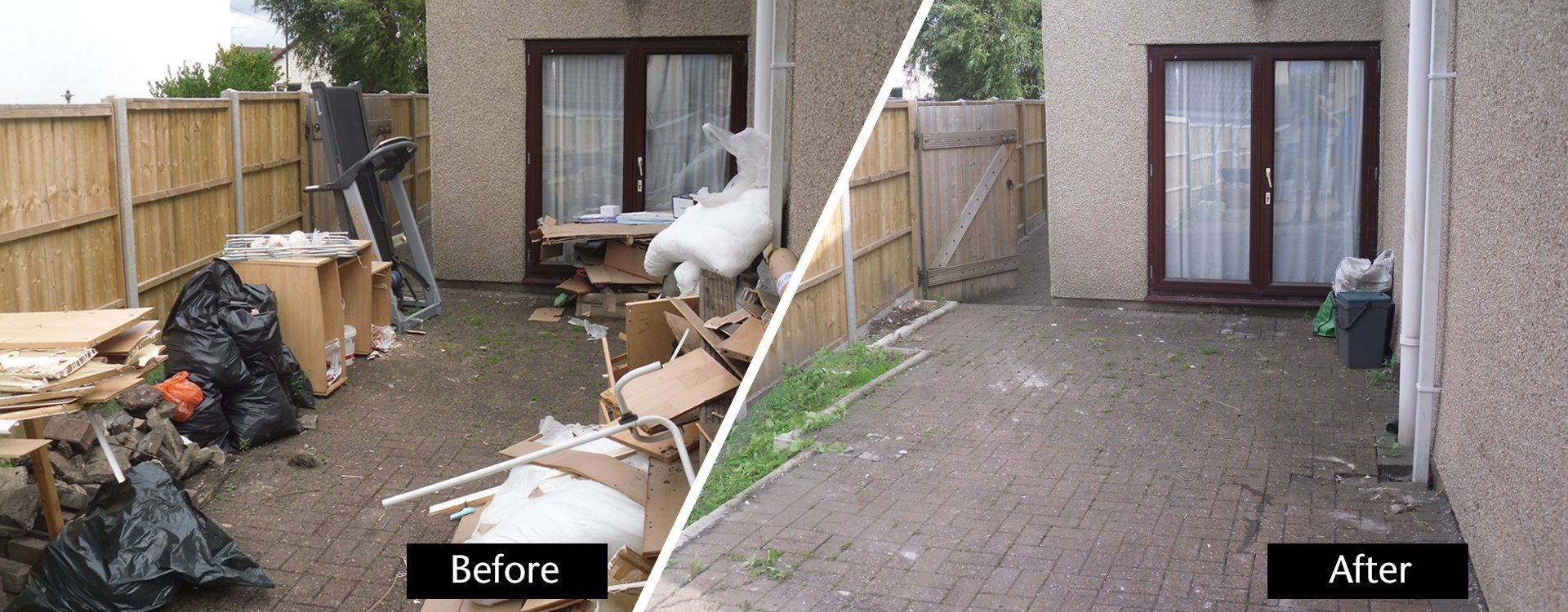 waste before and after disposal
