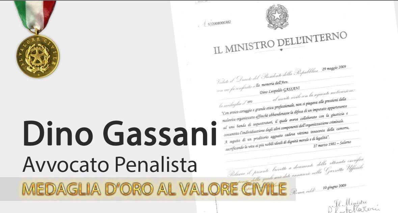 Documento del ministero dell'interno su Dino Gassani