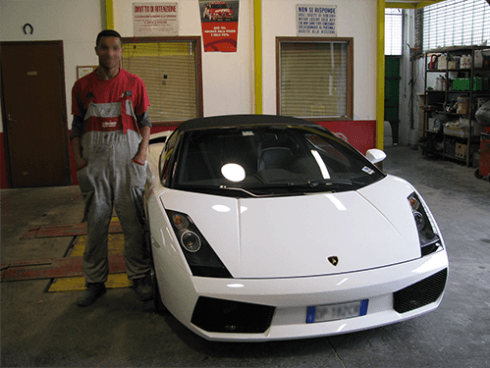 Lamborghini bianca