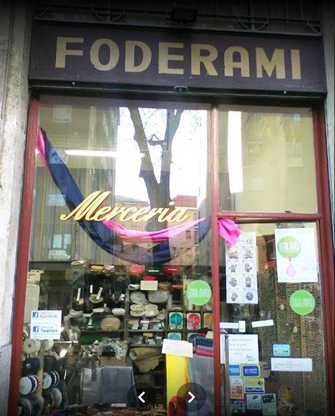 Vetrina Foderami Carcamo a Milano