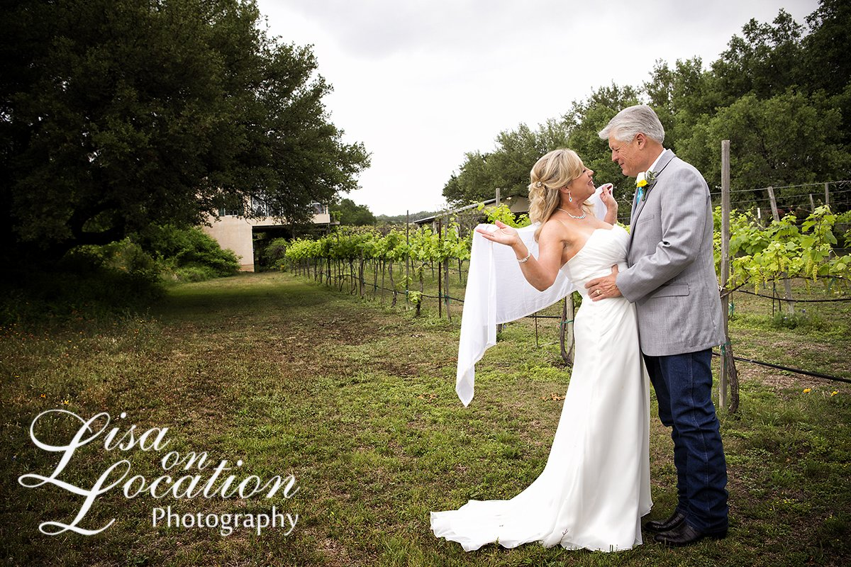 Outdoor Wedding at Vineyard in San Antonio