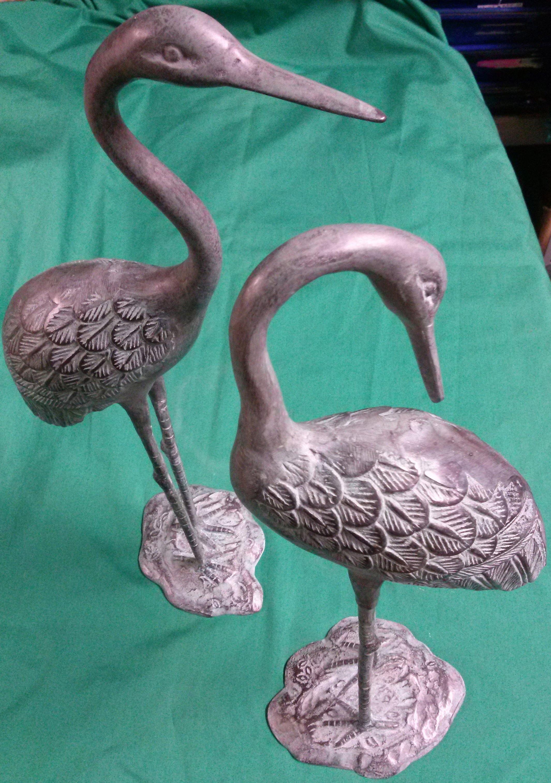 Bronze pair of love cranes tsuru in Honolulu, HI