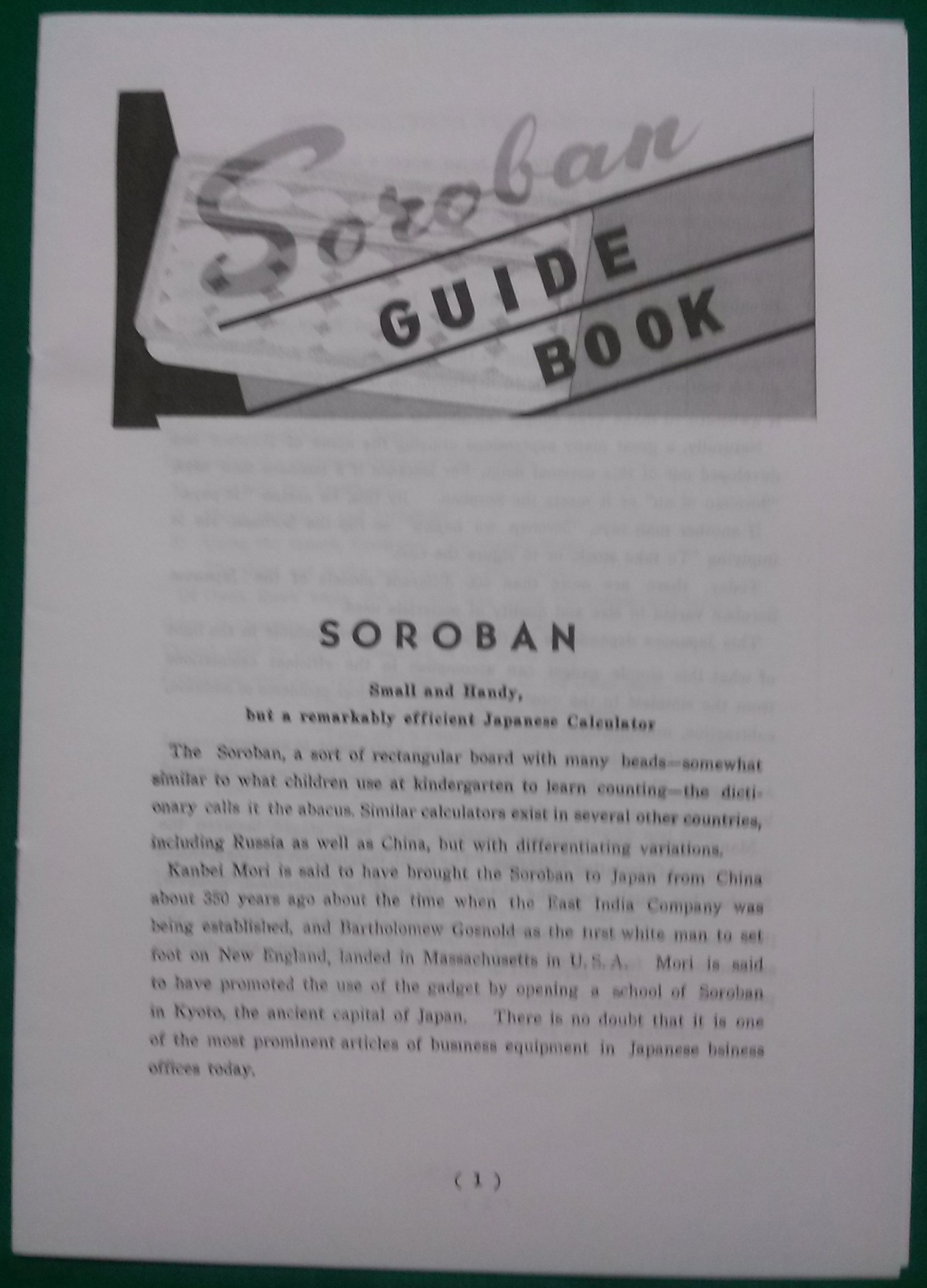 Soroban abacus guidebook in Honolulu, HI