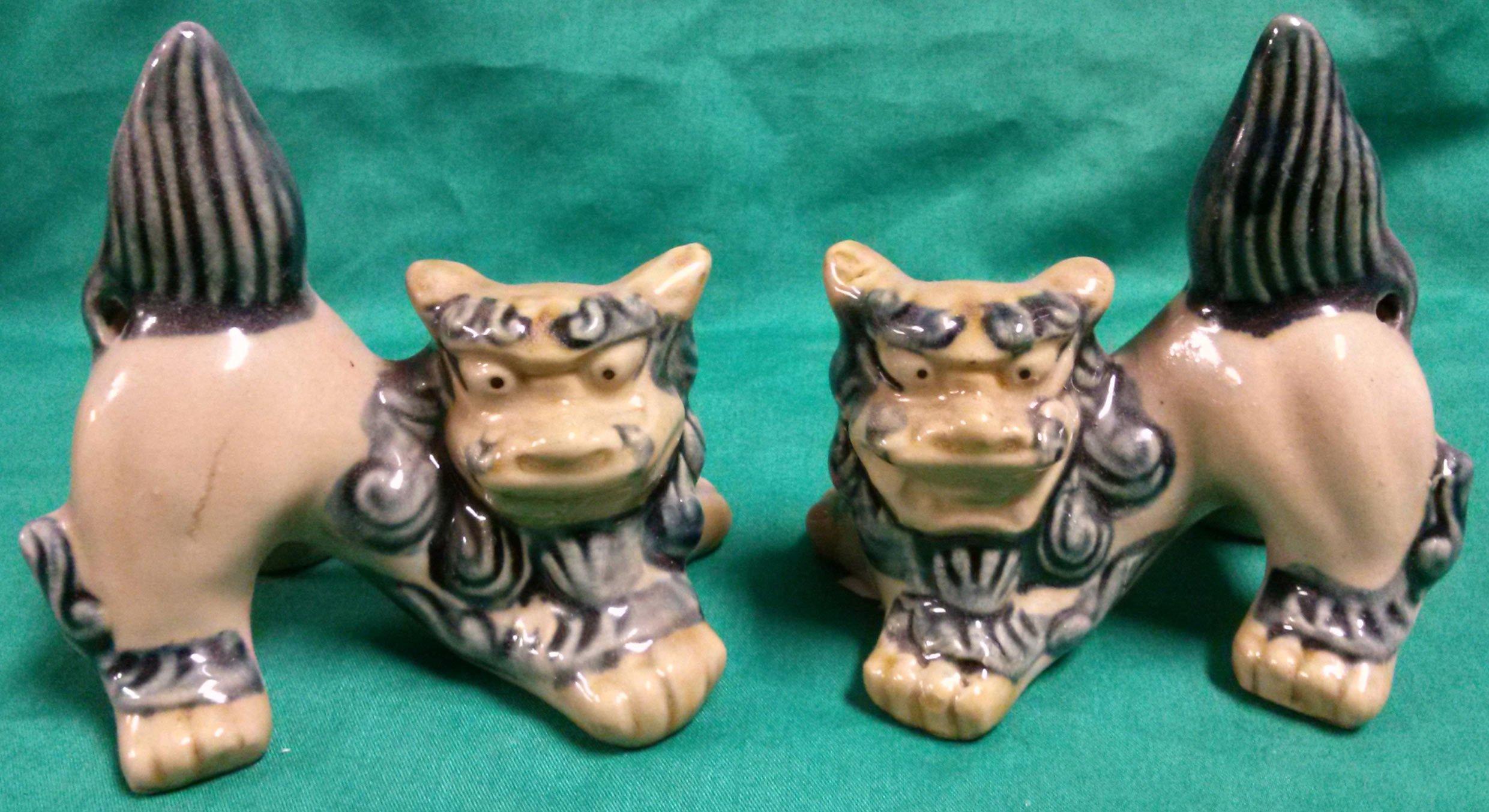Ceramic okinawan crouching shishi in Honolulu, HI