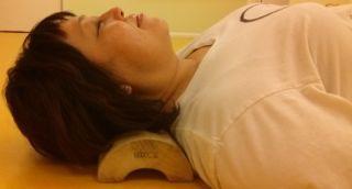 lady taking rest on woven wisteria vine pillow in Honolulu, HI