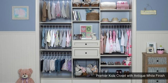 Custom Kids Closet Antique White