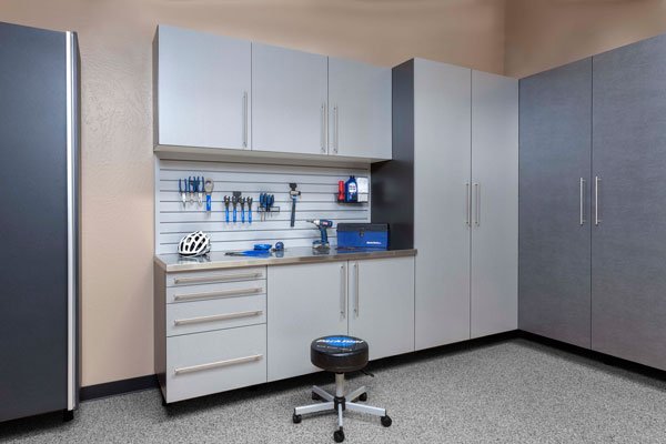 Delicieux ... Silver Custom Garage Cabinets