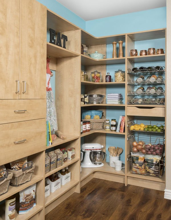 Kitchen Pantry With Secret Finish ...