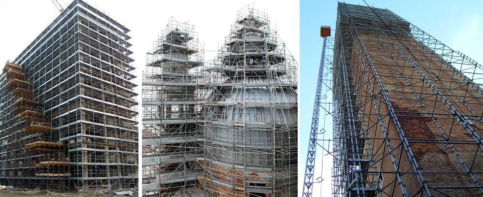 ponteggi per ristrutturazioni chiese