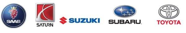 Saab Saturn Suzuki Subaru Toyota