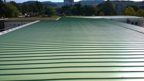 copertura di un tetto piano