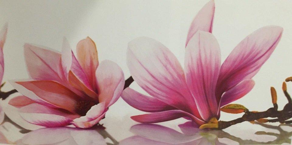quandro che rappresenta due fiori rosa