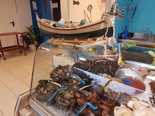 La sezione pescheria all'interno del nostro ristorante a Crema
