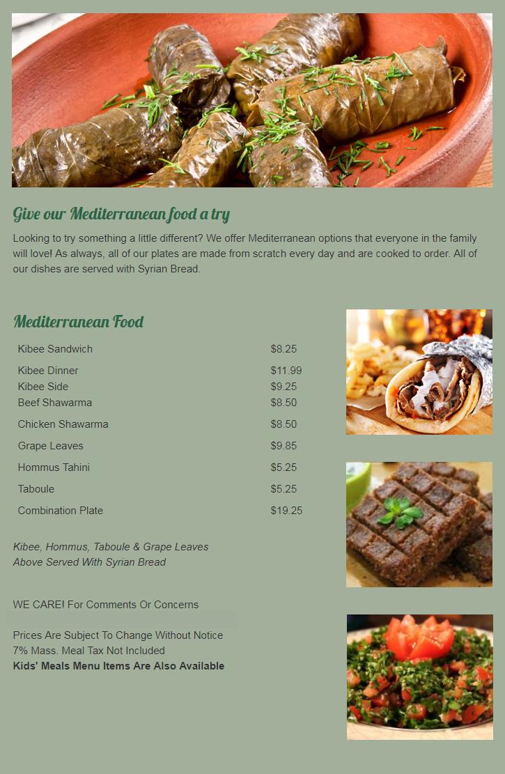 Mediterranean Food In Methuen Ma