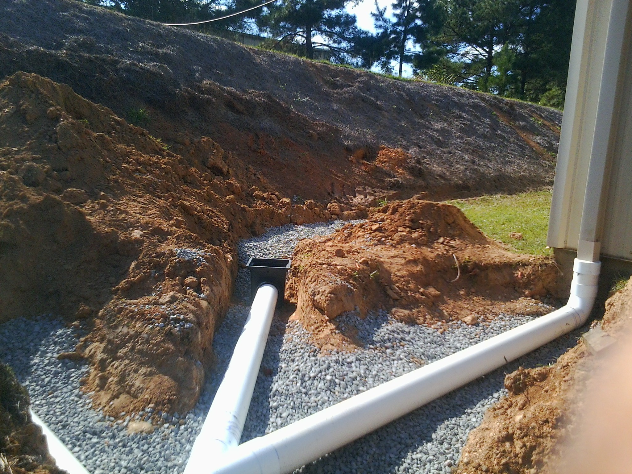 French drain cost nds ez flow french drain downspout for Gutter drainage systems design
