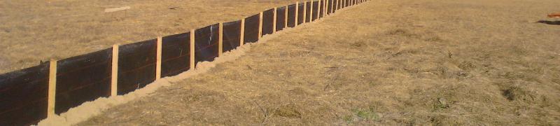 Silt Fencing Erosion Control Augusta GA Bill Harley Company