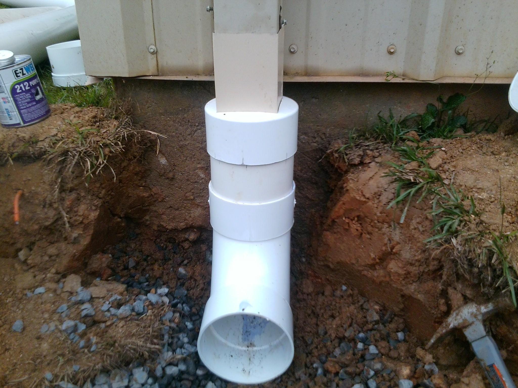 French drains augusta ga bill harley company for Yard drain box
