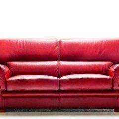 divano in pelle rosso