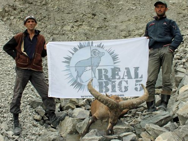 REAL BIG 5 banner at the hunting site
