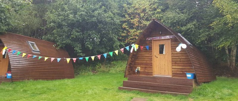 Spacious glamping pods