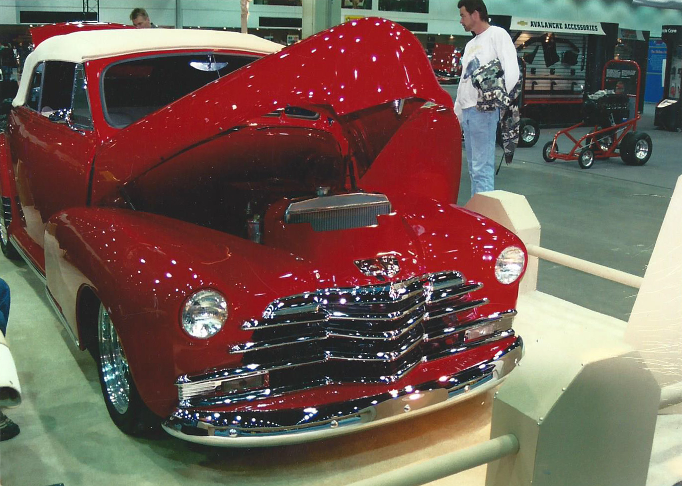 Red car at Hempton's goodrich body shop