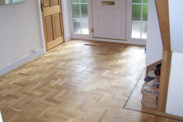 Floor before polishing