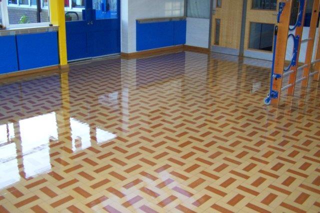 Floor after polishing
