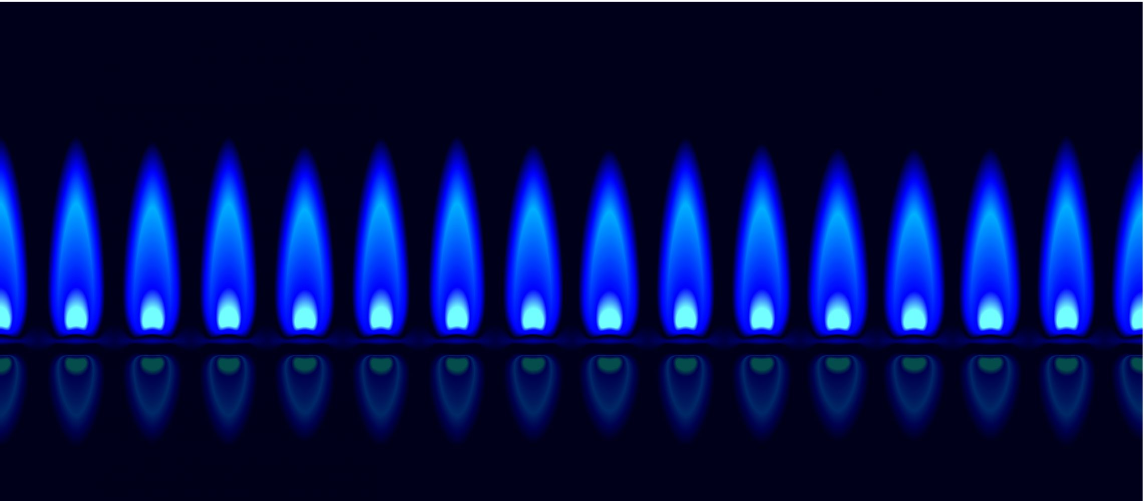 blue flames representing gas appliances in West Plains, MO