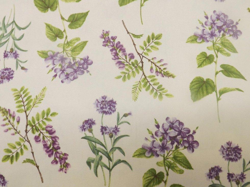 Fabrics with flower patterns manzano