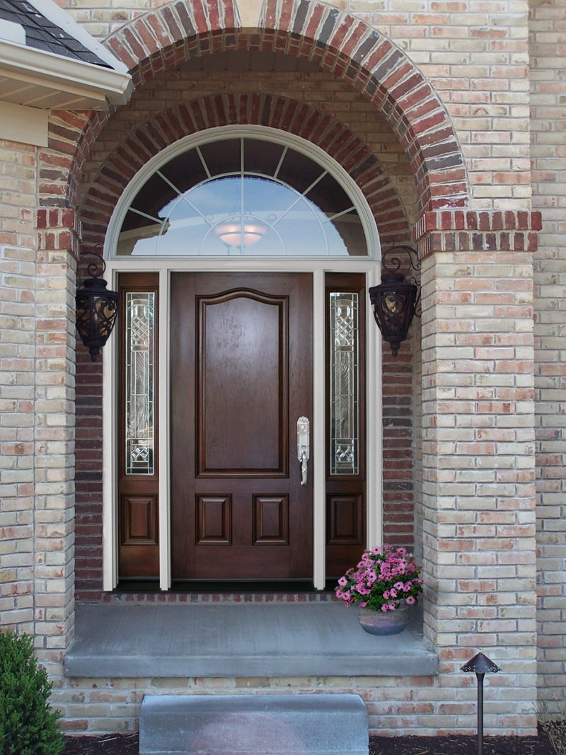 Entrance Door With Window Of Entry Doors And French Doors In Cincinnati Oh