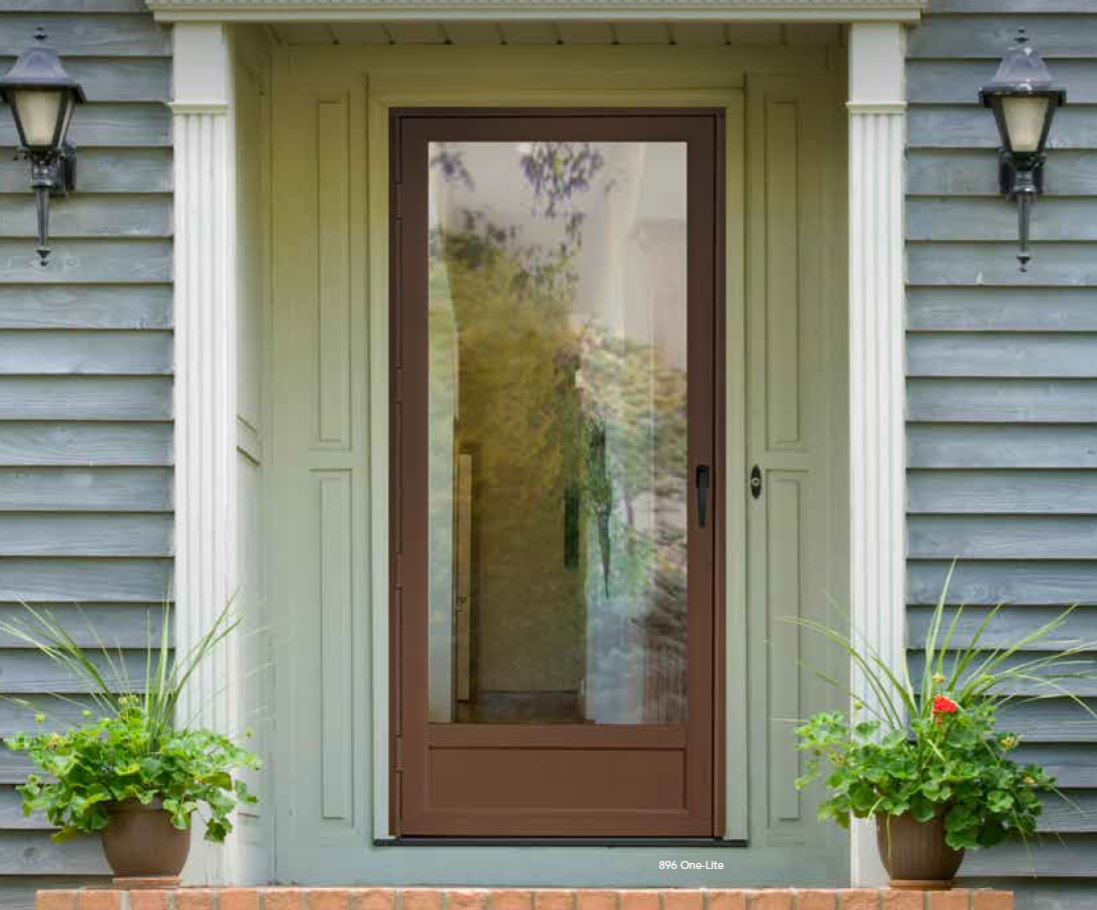 Storm doors in cincinnati oh windows plus for Storm door window