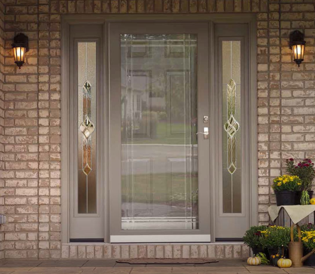 Image gallery storm doors for Entry door with storm door