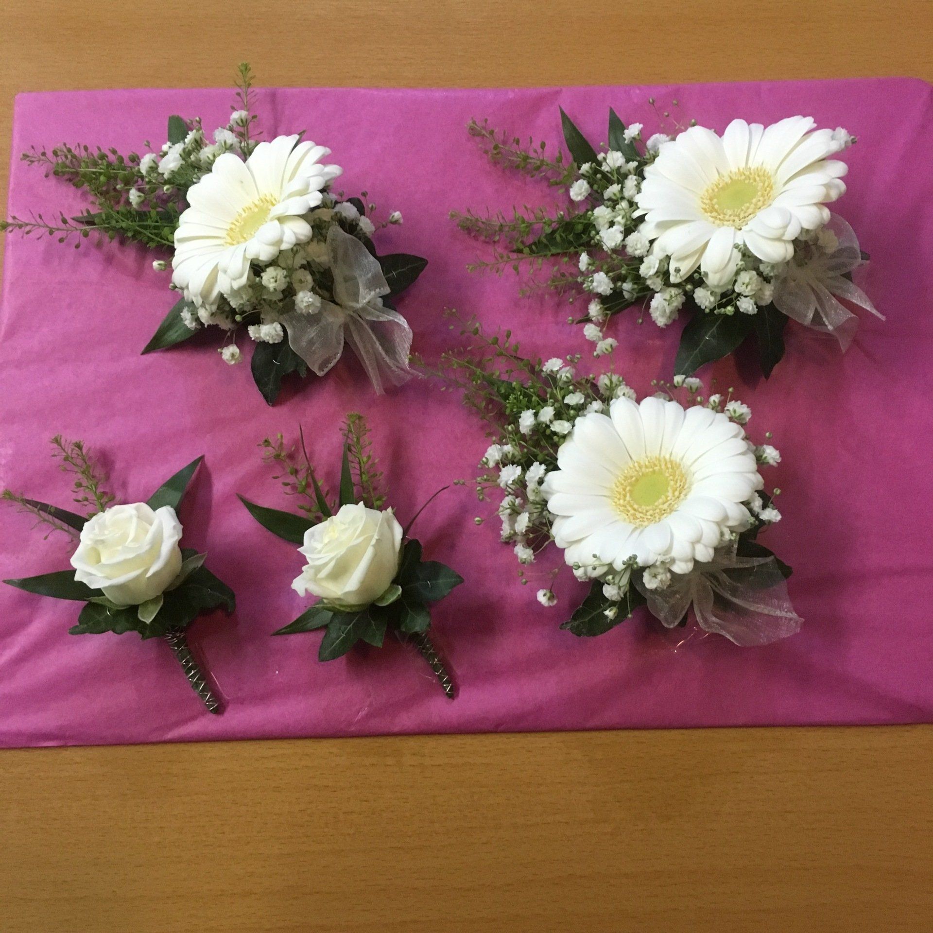 Wedding Flowers Lancashire: Gallery Of Buttonholes Designs And Work, Wedding Flowers