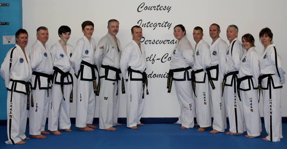 team learning Taekwon-do