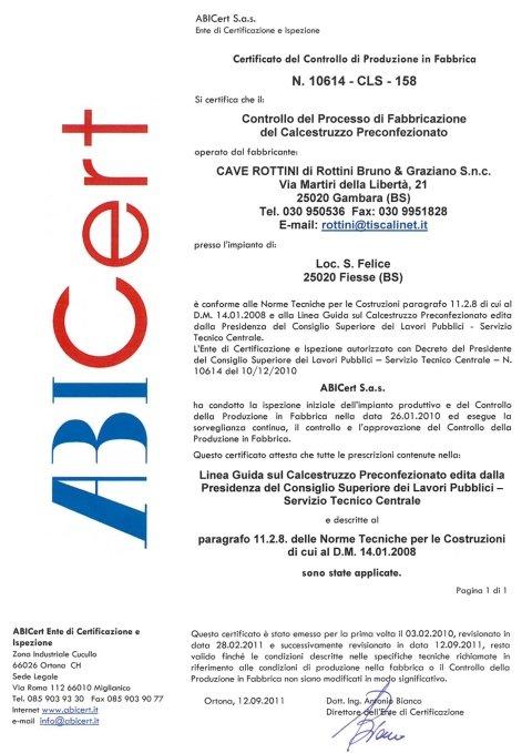 Certificato ABICert