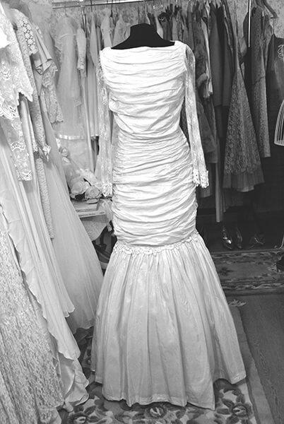 abito vintage da sposa elegante